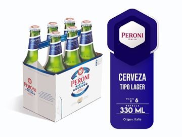 Picture of PERONI NASTRO AZURRO SIX PACK 330 ML (ITALY)