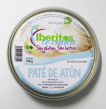 Picture of TUNA PATE LACTOSE FREE - GLUTEN FREE 140 GR (SPAIN)