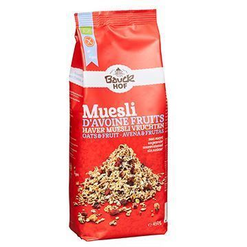 Picture of ORGANIC OAT MUESLI WITH FRUITS WITHOUT SUGAR 450 GR - GLUTEN FREE (GERMANY)