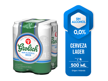 Picture of GROLSCH 0,0% ALCOHOL FOUR PACK CAN 500 ML (HOLLAND)