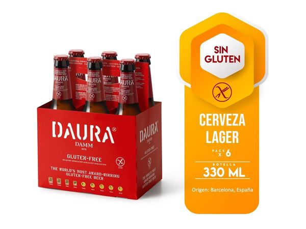 Picture of DAMM DAURA GLUTEN FREE SIX PACK  B .330 ML (SPAIN)