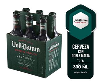Picture of VOLL DAMM SIX PACK  DOUBLE MALT 330 ML (SPAIN)