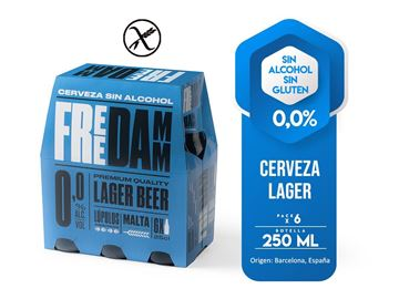 Picture of FREE DAMM  0,0% ALCOHOL - GLUTEN FREE  SIX PACK 250 ML (SPAIN)