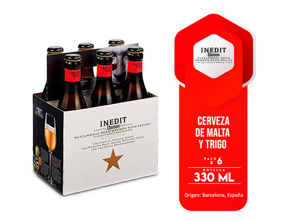 Picture of DAMM INEDIT SIX PACK 330 ML (SPAIN)
