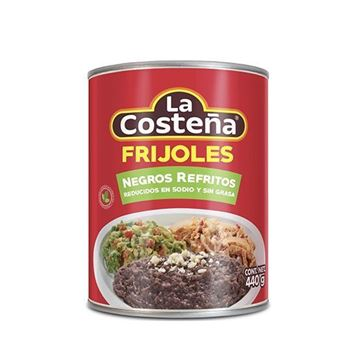 Picture of REDUCED REFRITED BLACK BEANS IN SODIUM AND FAT FREE 440 GR (MEXICO)