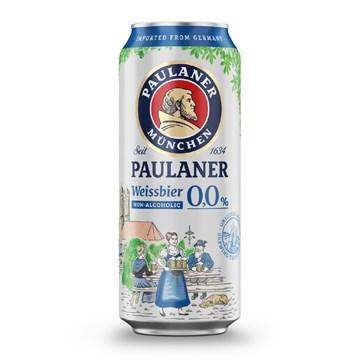 Imagen de PAULANER LATA WEISSBIER SIN ALCOHOL 0,0% (ALEMANIA)
